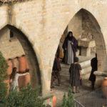 Escena en la lonja medieval